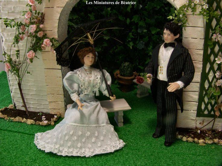 Louise et Charles by les Miniatures de Béatrice.