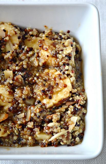 Another recipe for hot quinoa cereal in the morning