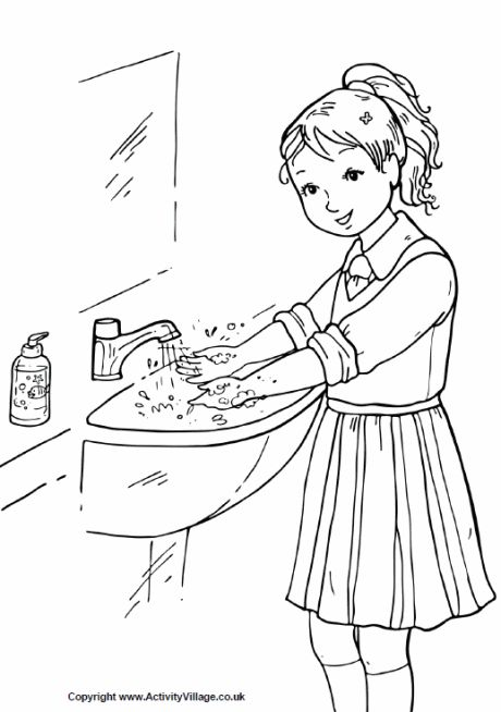 germ coloring pages handwashing - photo#26