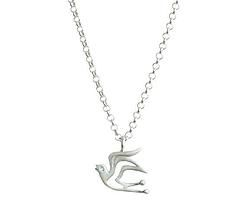 Hope Bird, sterling silver necklace