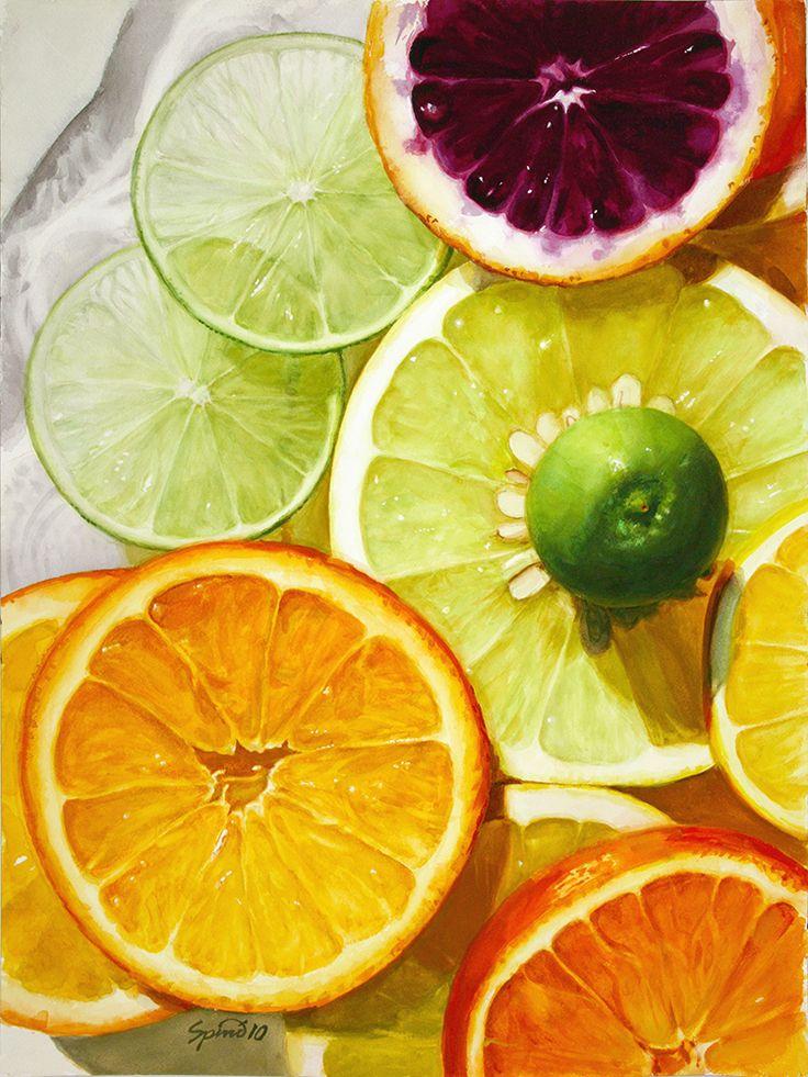 Citrus Fruit Painting Food Painting Watercolor Food