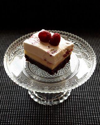 CHEZ LUCIE: Cheesecake brownie s malinami