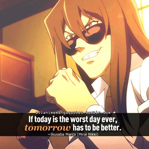 Mirai Nikki Quotes: I HATE Future Diary, But I Will Say That They Have Some