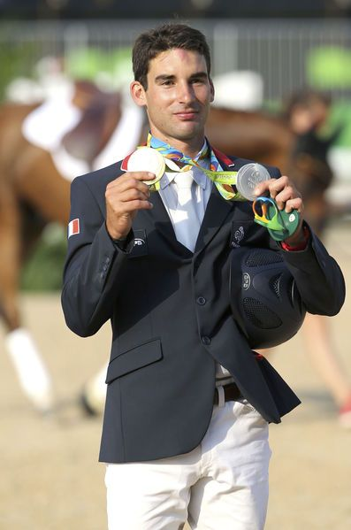 Astier Nicolas, médaille d'argent de l'épreuve individuelle du concours complet aux JO de Rio 2016