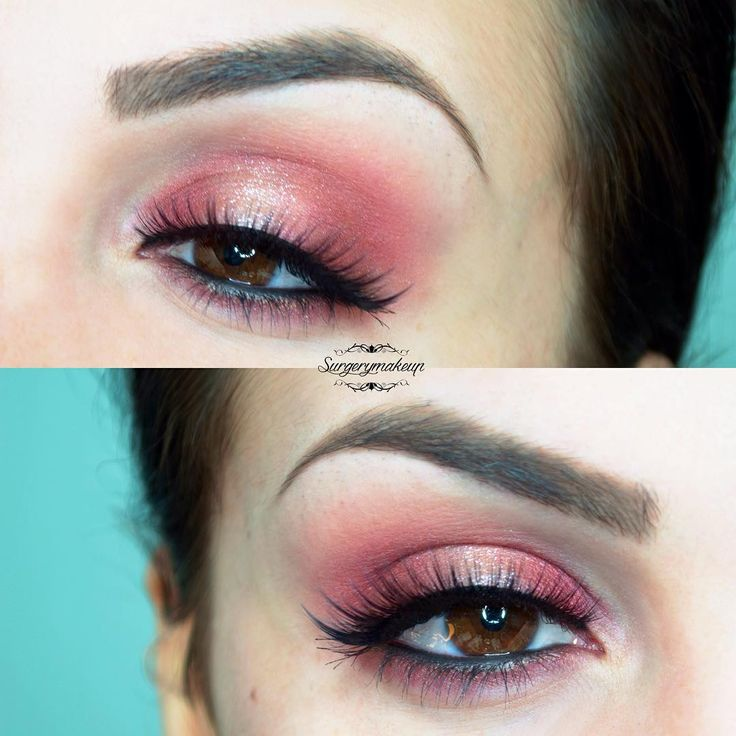 Beautiful red eye look with a sparkle accent.