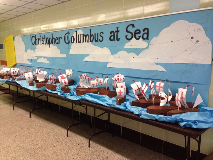 Christopher Columbus project and Bulletin Board display.