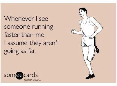 Hahaha I do this all the time when I am out on my runs! It works until I pass the same person on the way back an hour later LOL