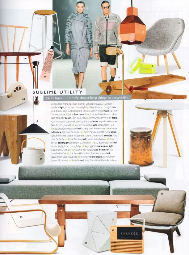 Sublime Utility With The Smed Stool In Belle Magazine October 2013  Http://www
