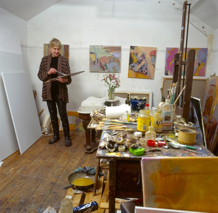 Rose Hilton in her studio UK133 best Artist Studios and Homes images on Pinterest   Artist  . Artist Studio Furniture Uk. Home Design Ideas