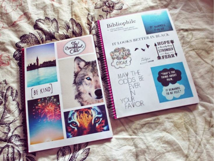 DIY Tumblr notebooks