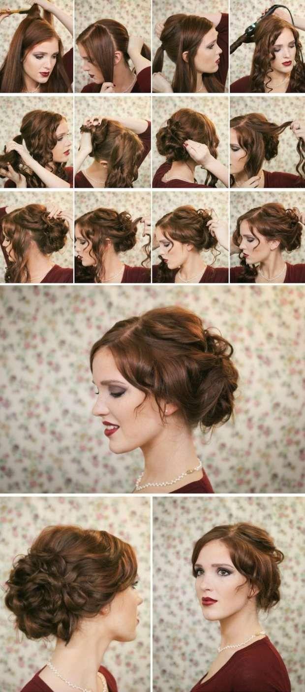 festliche Hochsteckfrisuren Haare Frauen (Diy Hair)