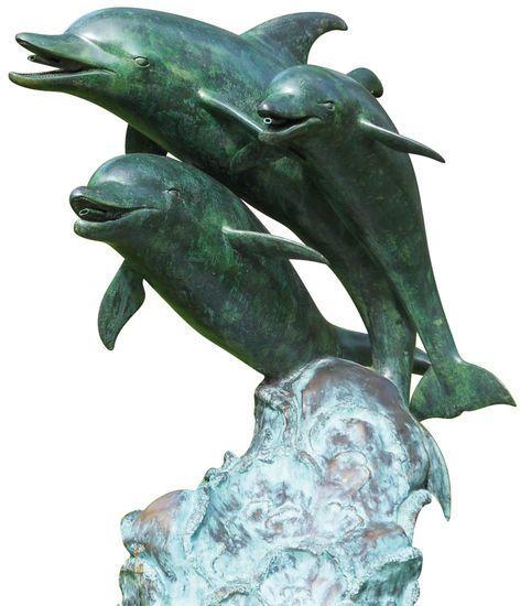 Gartenskulptur / Wasserspeier ´Delfingruppe´, Bronze, Brunnen Jetzt bestellen unter: https://moebel.ladendirekt.de/garten/gartenmoebel/gartenmoebel-set/?uid=ee98ebb9-bff7-5815-8bf1-1d6f5e180945&utm_source=pinterest&utm_medium=pin&utm_campaign=boards #gartenaccessoires #garten #gartenmoebel #gartenmoebelset Bild Quelle: www.arsmundi.de