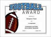 Image result for Free Printable Football Certificate Templates
