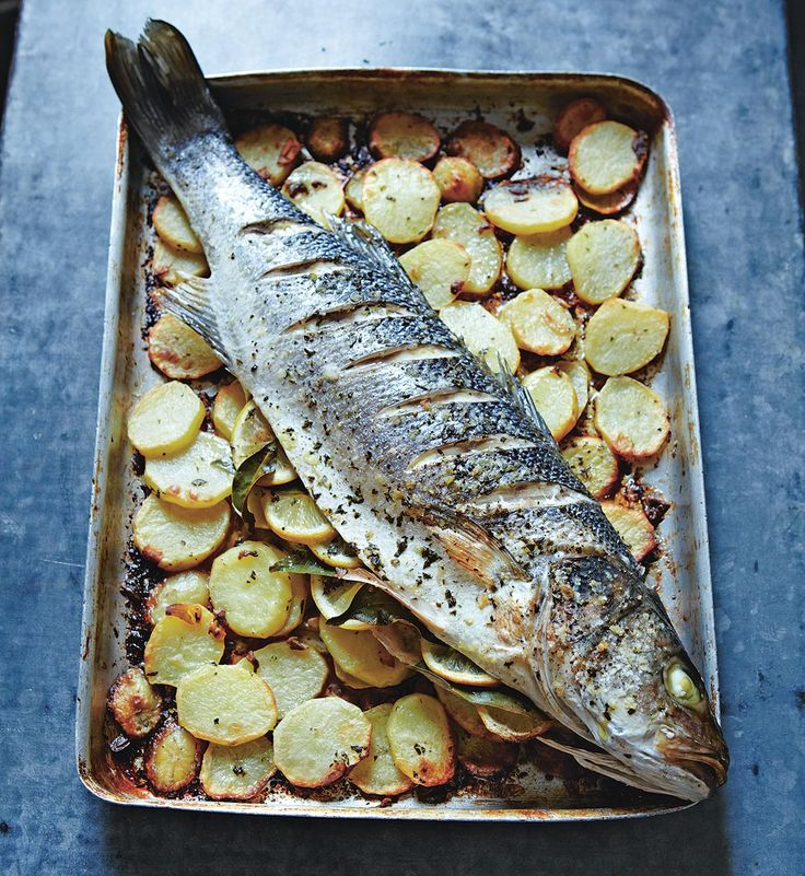 Whole Sea bass Baked on Anchovy and Garlic Potatoes – José Pizarro