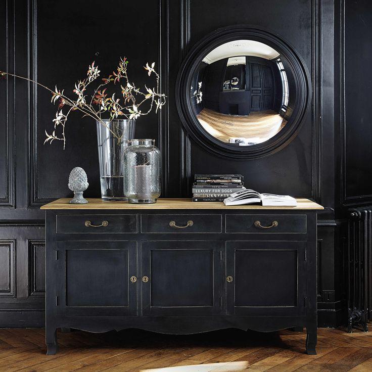 Buffet en manguier noir L 160 cm Versailles | Maisons du Monde