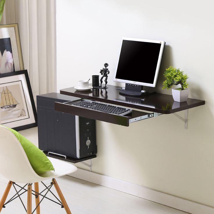 Simple escritorio de la computadora de escritorio en casa sencilla pequeño apartamento nuevo espacio-ahorro de mesa pared
