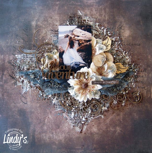 Mary's Crafty Moments: ''Live Your Adventure'' - DT Mixed Media Layout fo...