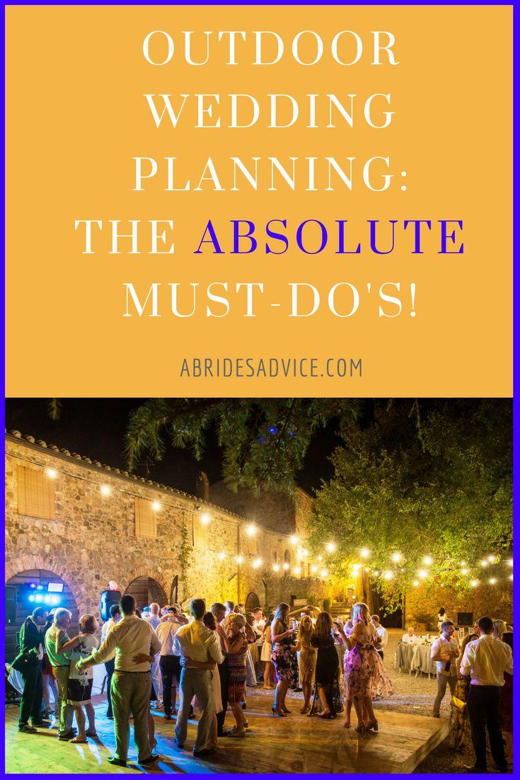 Outdoor Wedding Planning Tips | Wedding Mistakes To Avoid | Outdoor Wedding Ideas | Garden Wedding Planning | Wedding Planning Guide | Summer Wedding Planning | How To Plan Wedding
