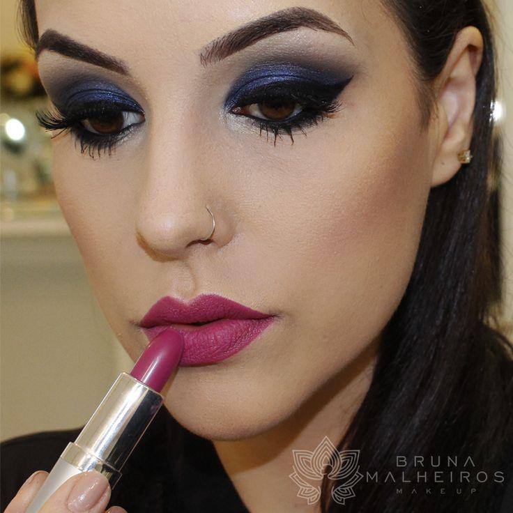 maquiagem ousada azul boca pink makeup blog and