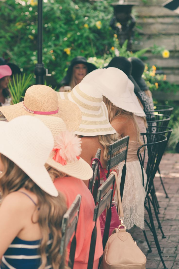 Floppy hats tea party