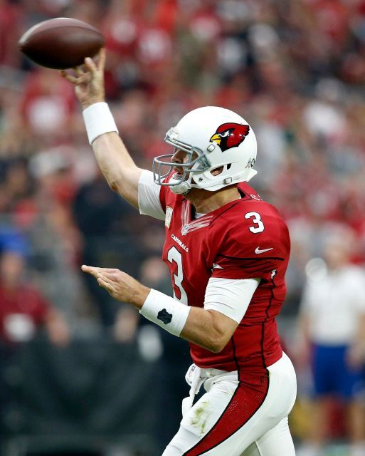 49ers vs. Cardinals:  23-20, Cardinals  -  November 13, 2016  -    Arizona Cardinals quarterback Carson Palmer (3) throws against the San Francisco 49ers during the first half of an NFL football game, Sunday, Nov. 13, 2016, in Glendale, Ariz.