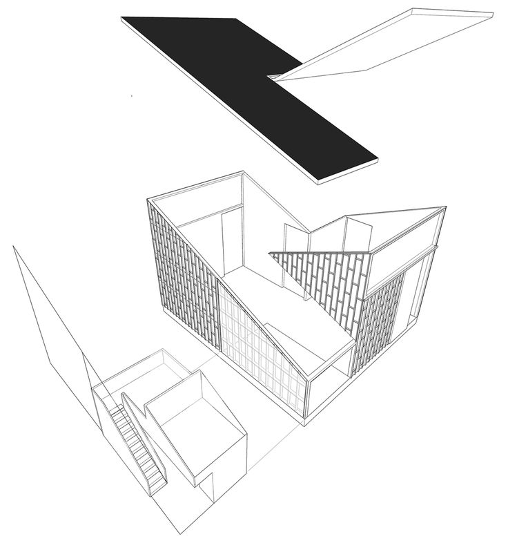 Exploded axonometric diagram of Giraffe-House-by-Monk-Mackenzie-with-Glamuzina-Patterson