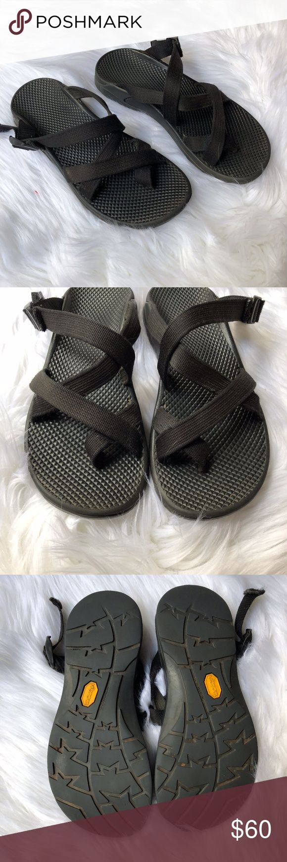 Black Womans Chacos SZ 9 These backless chacos are woman's and a size 9. They are gently used and still ave soooo much life in them. Thank you for looking and feel free to sent me a bundle so I can add a discount of feel free to shoot me over an offer. Chaco Shoes Sandals