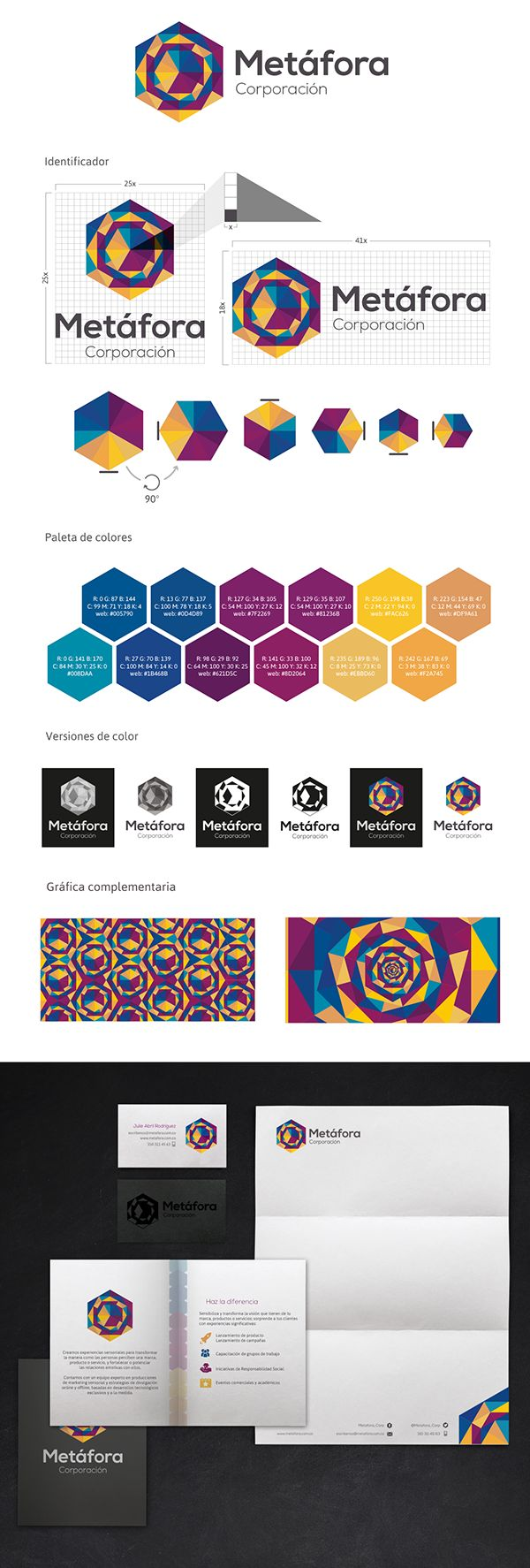Metáfora llega como un nuevo proyecto de branding a Montenegro, es una nueva empresa que está buscando un identificador que le ayude a posicionarse en el mercado como desarrolladora de marketing sensorial.