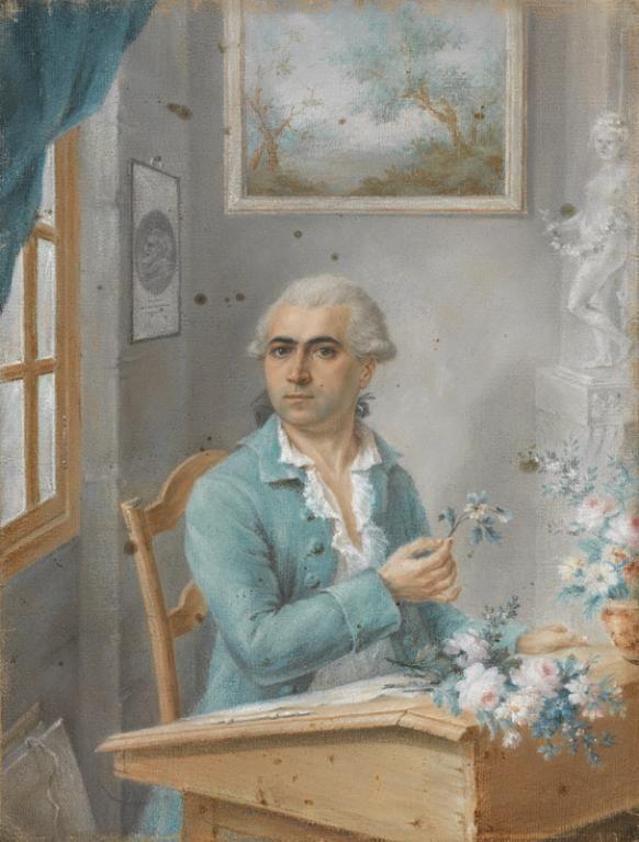 Philippe de Lasalle (Seyssel, 2 septembre 1723 - Lyon, 27 février 1804 (7 Ventôse An 12)), Autoportrait, Lyon,  1776. MAD 2274. Don Pin, 1969. © Musée des Tissus, Pierre Verrier.