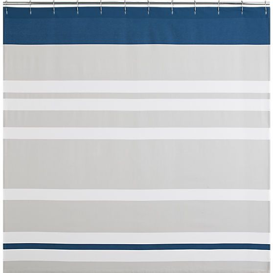 lively blue shower curtain | CB2