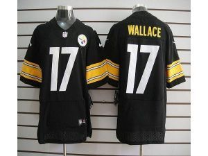 22d346313b3 ... Nike NFL Elite Steelers 17 Mike Wallace Black Team Color Mens Stitched  Jersey ...