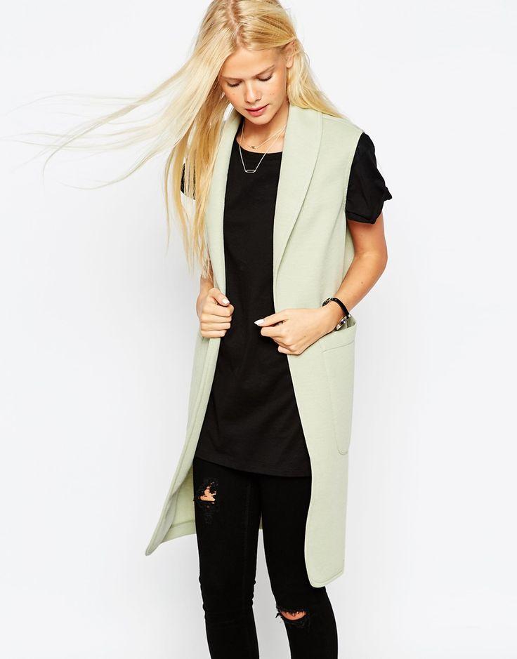 ASOS Longline Jersey Sleeveless Jacket
