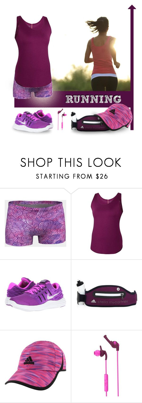 Running by @savousepate on @polyvore #pink #purple #sportwear
