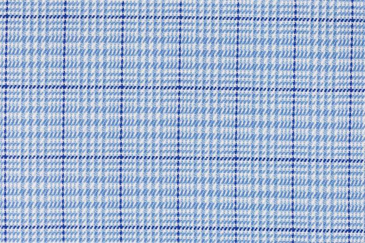 Street Baby Blue Tartan Plaid Shirting