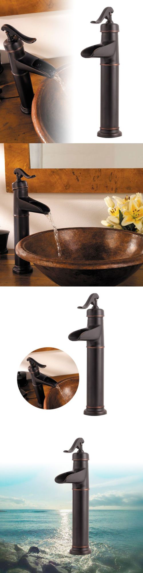 Bathroom sink faucet one hole double handle basin mixer tap ebay - Faucets 42024 Oil Rubbed Bronze Tall Bathroom Basin Faucet Vessel Sink Mixer Deck Mount Taps