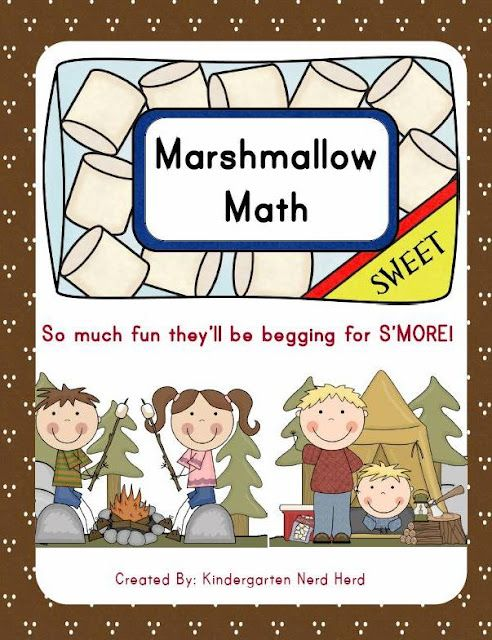 6 Math Station Activities for Kindergarten for First. Great for camping theme. So much fun they will be begging for S'MORE!!!!