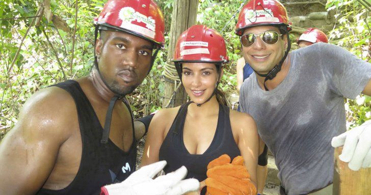 Pin for Later: This Isn't the First Time the Kardashians Have Stayed at Joe Francis's Casa  Kim and Kanye went zip-lining with Joe Francis.  Source: Casa Aramara
