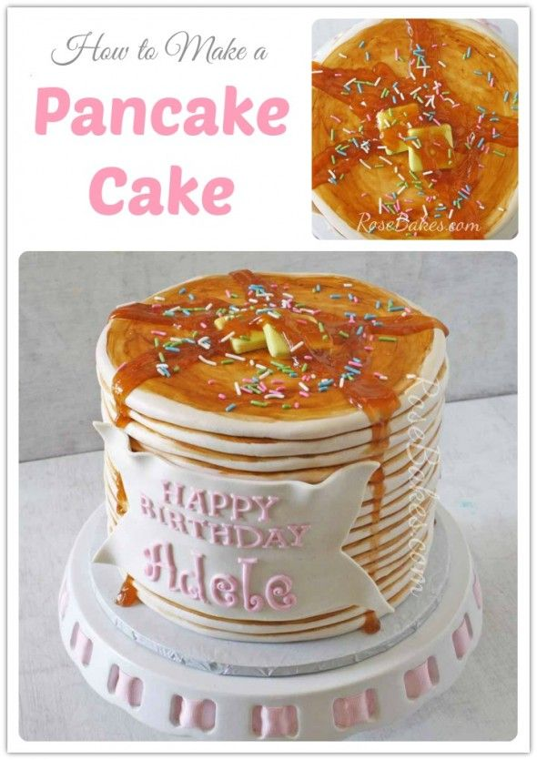 How to Make a Pancake Cake | http://rosebakes.com/how-to-make-a-pancake-cake/