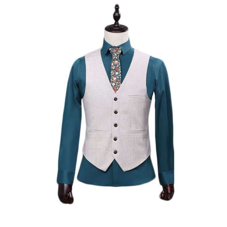 2016 High Quality White Men's Separate Formal Waistcoat Single-Breasted Custom Color 4 Bottons Vest for Formal Occasion