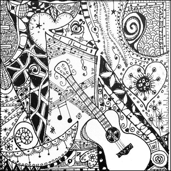 coloriage anti stress musique
