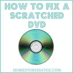 One pinner writes:...it WORKS!  It's like a little miracle and we've already repaired a bunch of movies that have been loved (practically to death) by the kids and watched over and over.  Seriously - don't throw away another DVD until you've tried this...I wish I knew about this simple fix a long time ago!