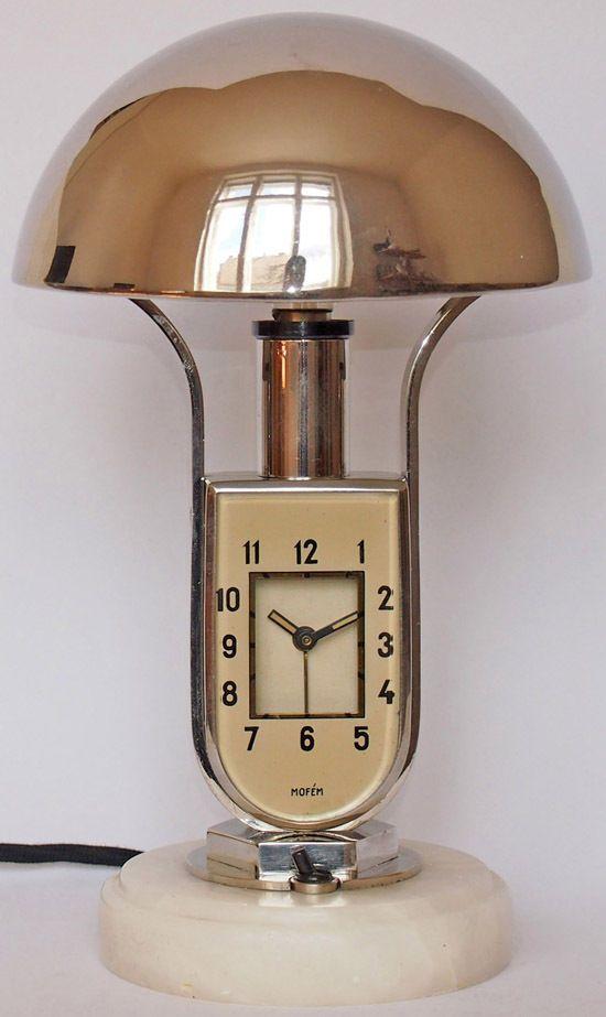 Lampe Mofem Art Deco Lamp Alarm Clock Bauhaus
