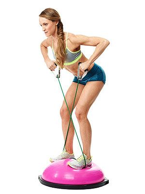HIIT It with the Bosu Sculpt your bod with this fresh, fun workout you can rock in 20 minutes. Cinch and Sculpt Gym Tools to Try: •Total-Body TRX Workout •Sculpt Sexy Arms with a Resistance Band •Tone Up with a Resistance Ball