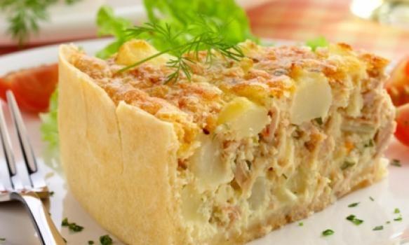 Torta de Atum e Batata