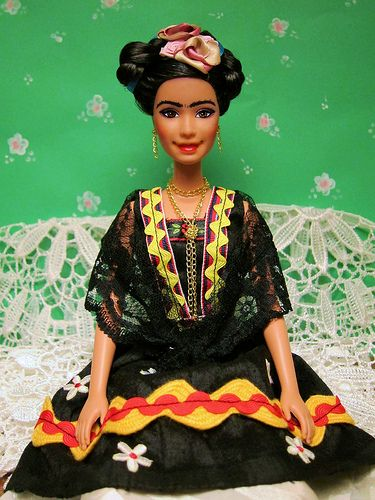 Barbie Frida Kahlo. If I have a child, and s/he wants a barbie, this is what s/he'll get.