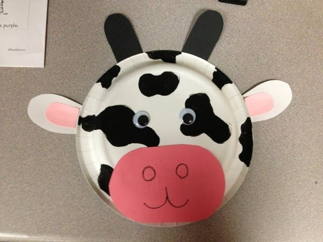 Farm Theme PreK - Cow mask from paper plate & 96 best Theater images on Pinterest | Teatro Owl mask and Paper plates