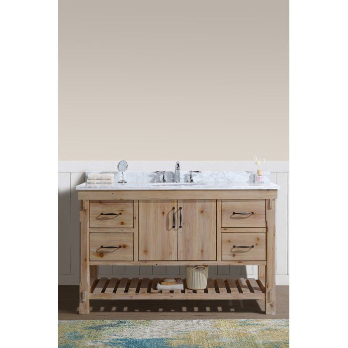 Union Rustic Loftin 55 Single Bathroom Vanity Set Reviews Wayfair Farmhouse Style Bathroom Vanity Bathroom Vanity Single Bathroom Vanity
