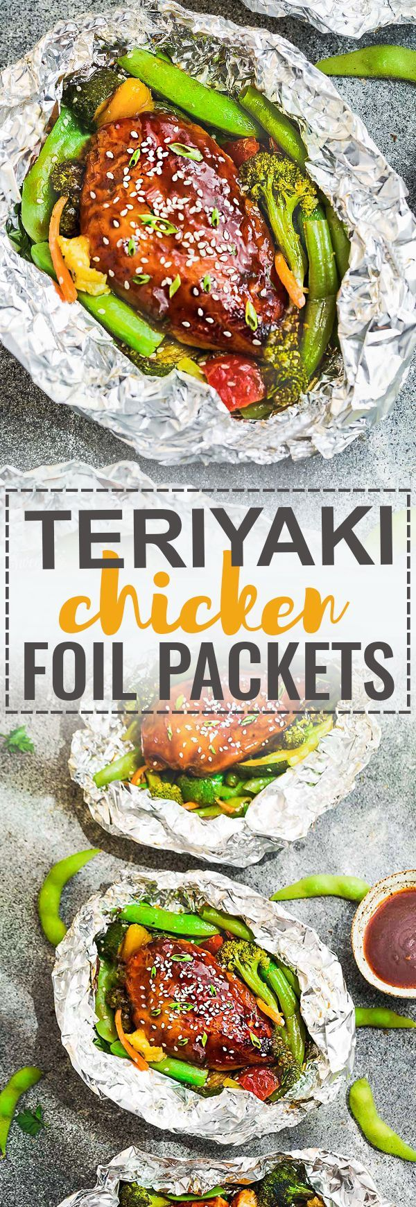 This Teriyaki Chicken Foil Packets with Vegetables is the perfect easy campfire or weekly dinner recipe for summer.