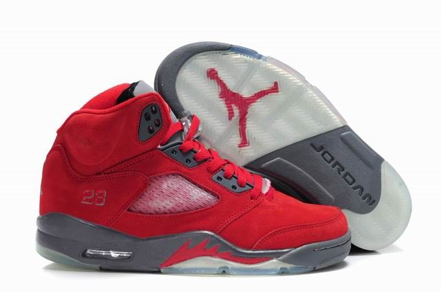 info for d3469 cfd6e Star s favorite Fluff Fire Red Grey-White Air Jordan 5 (V) Basketball Shoes  Shop