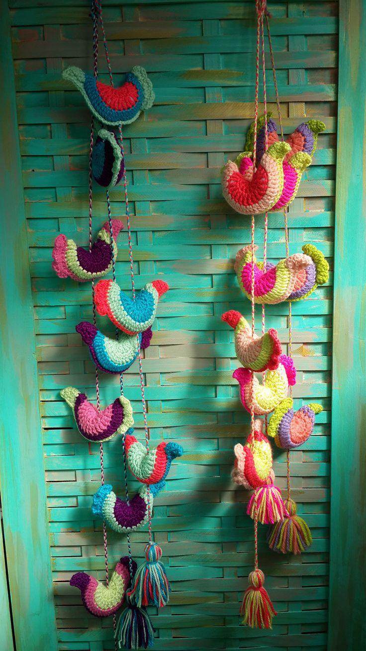 Colgantes Pajaritos, $130 en http://ofeliafeliz.com.ar